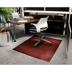 Anji Mountain Bamboo Tri-Fold Plush Chairmat - no lip. Our patented Bamboo Office Chairmats have introduced eco-friendly style to what was formerly an unattractive and purely functional accessory.