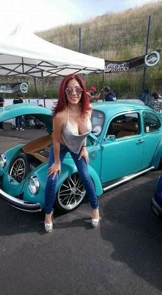 I just wanted a place for all the pictures of girls and VWs I've acquired. Ferdinand Porsche, Sexy Cars, Hot Cars, Car Girls, Pin Up Girls, Vw Bus, Carros Vw, Van Vw, Chevy
