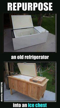 Ice Chest Refrigerator. Greening the Backyard Party!