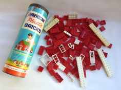 AMERICAN Plastic BRICKS, Halsom Products Company, Made in the USA by ThoughtfulVintage on Etsy