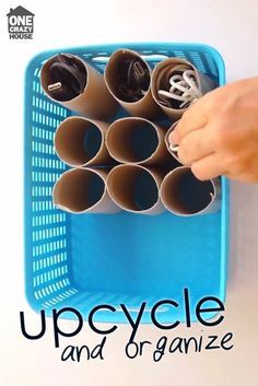 TP Tube Hack to Organize Cords and Cables!