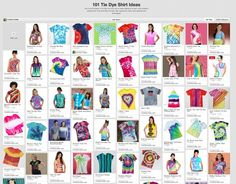 "Check out our new Pinterest board ""101 Tie Dye T-shirt Ideas"" for lots of awesome tie dye shirt inspiration!"