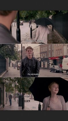 Tessa: I know you're looking. Adam: I'm not looking. Tessa: Liar. [Now Is Good, 2012]