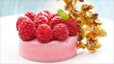 Bringebær og yoghurtkrem