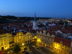 View of the Old Town from St Nicholas Church, Prague.