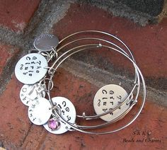 These adjustable, stack-able bangle bracelets are great for besties!