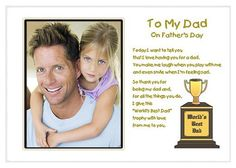 Worlds Best Dad Fathers Day Gift from daughter or son - Add photo after delivery