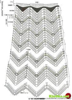 zig zag crochet skirt free pattern 3