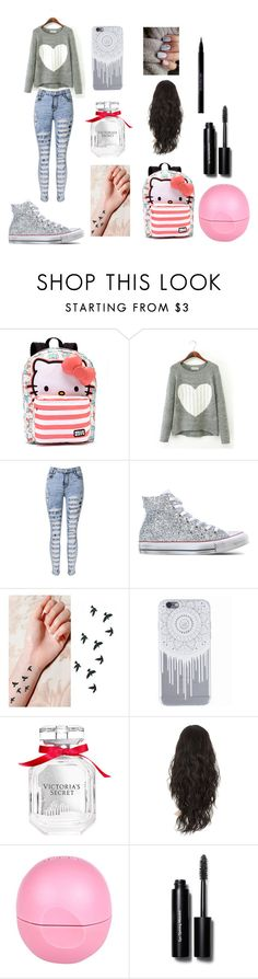 """""""Untitled #123"""" by arianagrande-765 on Polyvore featuring Hello Kitty, Converse, Victoria's Secret, River Island, Bobbi Brown Cosmetics and Urban Decay"""