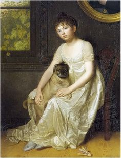 """Young Lady with Pug"""