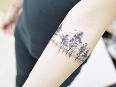 Scar cover tree tattoo on the right inner forearm. Tattoo...