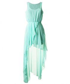LOve mint blue chiffon dress