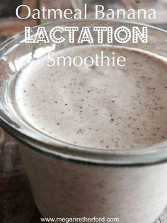 Oatmeal Banana Lactation Smoothie…recipe over on the blog, Shine Fresh! www.meganretherford.com
