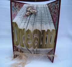 Folded book art a unique gift - Dream - by CreationsByMEx on Etsy