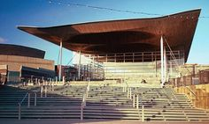 Senedd. Home of the Welsh Assembly Government - Cardiff Wales