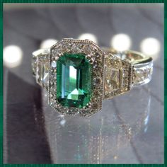 Sparkling and exquisite?   We've got you covered.  #emerald #emeraldcut #diamonds #bejeweled