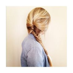 Braided Blonde Hair ❤ liked on Polyvore featuring hair, hairstyles, pictures, people and cabelos