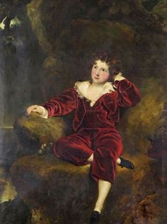 AFTER SIR THOMAS LAWRENCE PRA 17691830PORTRAIT OF MASTER CHARLES WILLIAM LAMBTON 'THE RED BOY' 1818 1831