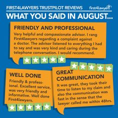 Some of our favourite Trust Pilot reviews from August