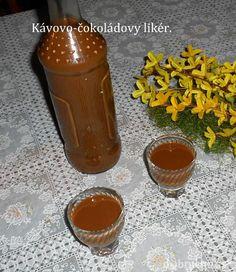 Fotorecept: Kávovo-čokoládový likér Cocktail Recipes, Cocktails, Beverages, Drinks, Hot Sauce Bottles, Smoothie, Pudding, Jar, Food