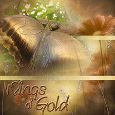 Wings of Gold created using Kristmess Designs' ThankFALL Extras Pixel Club kit at Gotta Pixel. www.gottapixel.net/