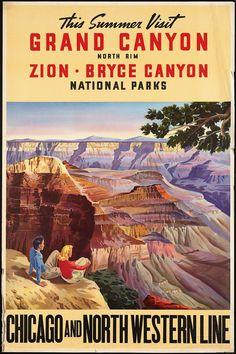 Vintage western travel posters