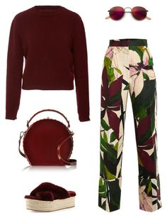 """Untitled #294"" by remedijos ❤ liked on Polyvore featuring Erika Cavallini Semi-Couture, Miu Miu, Ray-Ban, Bertoni and monochrome"