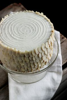 Harvey Wallbanger Cake, beautifully decorated with slivered almonds