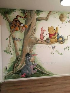 Baby Room Murals Winnie The Pooh 19 Best Ideas kids room ideas room design rooms decor room ideas bedrooms kids room ideas Disney Baby Rooms, Disney Babys, Disney Bedrooms, Disney Nursery, Disney Baby Nurseries, Kids Room Murals, Nursery Wall Murals, Bedroom Murals, Room Kids