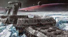 Isaac Hannaford Space Ship Guru - Eine Fabrikationsanlage der Anschuri auf einem Mond ihres Heimatsystems.
