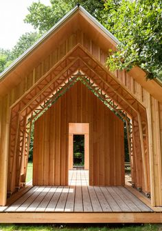 Layered Timber And Gl Walls Move Along Runners To Reveal Or Enclose This Gabled Garden Shed In Eindhoven Designed Built By Caspar Schols As A Hobby