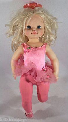 "VTG 1968 DANCERINA ballerina 24"" doll by MATTEL parts or restoration NON WORKING"