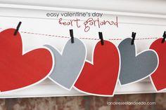 Valentine Heart Garland - Landee See Landee Do