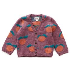 Kids Oeuf NYC Clementine Cardigan - Mauve Pink on Garmentory Kids Outfits, Cute Outfits, Vogue, Textiles, Stay Warm, Baby Knitting, Kids Girls, Knitwear, Kids Fashion