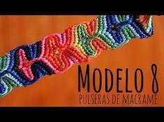 M Modelo 8 / Pulseras de macramé ♥ - YouTube