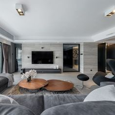 Apartment in Sha Tin Residential Interior by Alain Wong /// Photo by Trio Photo