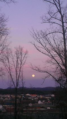 Full Moon over Pigeon Forge 3/7/12.