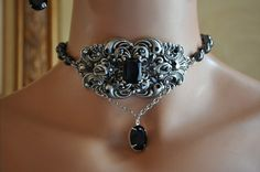 Victorian Gothic Choker NecklaceArt Deco by CynthiaNewCreations, $199.00
