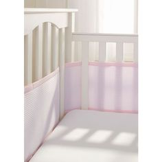 Breathablebaby  Deluxe Cable Weave Mesh Crib Liner (€46) ❤ liked on Polyvore featuring home, children's room, children's furniture, nursery furniture and pink