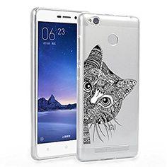 Xiaomi Redmi 3 Funda, ocketcase® TPU Carcasa Suave Silicona Flexible Gel Funda Resistente a los Arañazos Tapa Protectora Case Cover para Xiaomi Redmi 3 / RedMI 3 Pro 5.0 inch(gato) + Gratis lápiz óptico