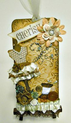 CHERISH collage Dress Form Sewing Tag by TheresabyDesign on Etsy, $12.00 ❤