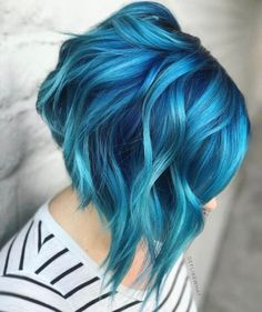 this ocean blue hair trend is taking the blue hair color to the next level #hair