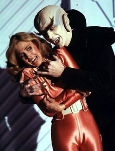 Colonel Wilma Deering (Erin Gray) and a space vampire -- Buck Rogers in the 25th Century