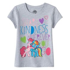 "Girls 7-16 My Little Pony ""Share Kindness Wherever"" Glitter Graphic Tee"