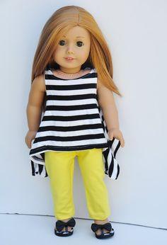 American Girl Clothes  Black & White by LoriLizGirlsandDolls
