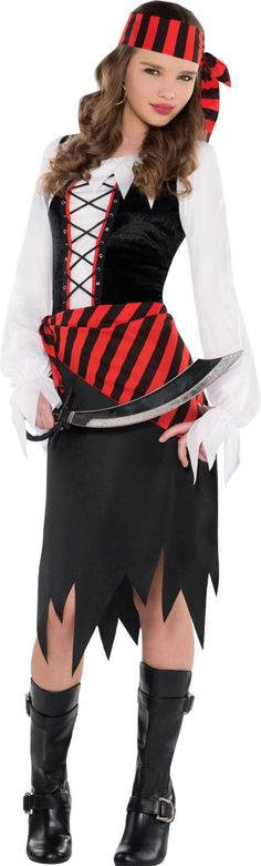 Girls Buccaneer Beauty Pirate Costume - Party City (so Madison has this for her costume 2015 now to just add steampunk touch)