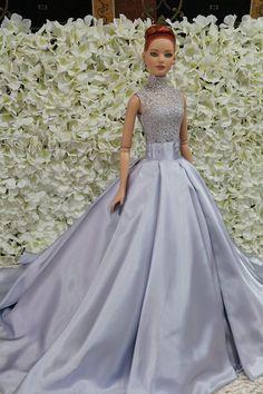 Barbie Wedding Dress, Barbie Gowns, Barbie Hair, Barbie Dress, Barbie Clothes, Fashion Royalty Dolls, Fashion Dolls, Bride Dolls, Beautiful Barbie Dolls