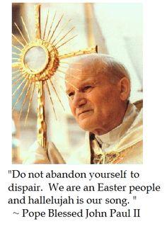 Pope John Paul II on the