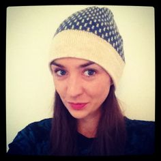 The gorgeous Lisa Dwyer Hogg in her very own Wool & Water beanie.  www.woolandwater.co.uk
