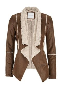 open front faux suede jacket (original price, $79) available at #Maurices